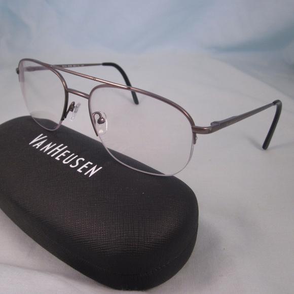 e6f5ce4c6682 Van Heusen Accessories | Rx Eyeglasses Artic Gun Metal Frames | Poshmark